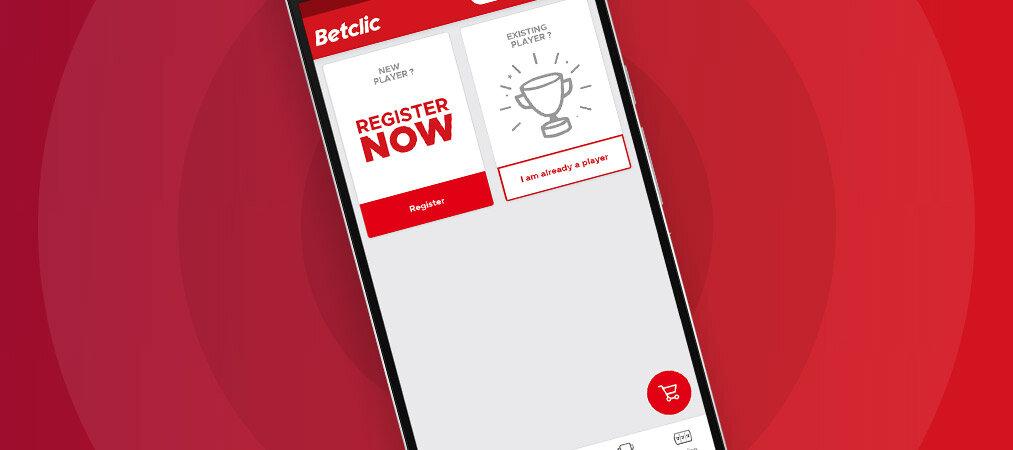 Aplicação Betclic mobile app para iOS
